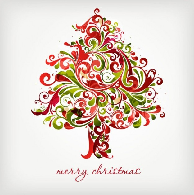 1-01 christmas-tree-floral-vector